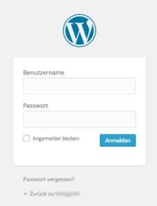 Wordpress Admin Login erreichen