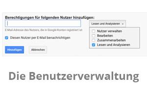 Benutzer hinzufügen bei Google Analytics