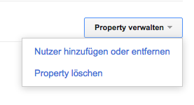 Property verwalten - Google Search Console