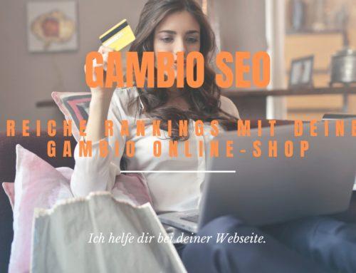 Gambio SEO: So optimierst du deinen Gambio Onlineshop